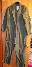 Military Surplus Coveralls, Flyers, Men, Summer, Size 42L, Sage Green, Qty. 1