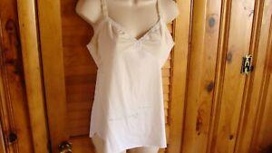 SHADOW LINE - IVORY WHITE Nylon Lace Trim Camisole - Size 36 MEDIUM