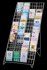"Floor Greeting Card Easel Display Rack - 60 Pocket 5"" x 7"" (White)"