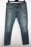 Levi Strauss & Co 511 Men Jeans Blue Slim Fit Cotton Blend size W30 L32