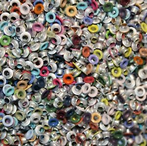 """Assorted Colorful Mega Mix of 1/8"""" Eyelets Bulk - for tags, crafts, scrapbooking"""