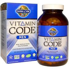 GARDEN OF LIFE MULTI-VITAMIN CODE MEN RAW WHOLE FOOD SUPPLEMENTS DAILY CARE