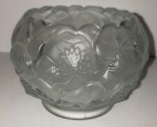 "Fenton crystal velvet ""Water Lily"" rose Bowl"