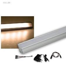 Set di 3 LED Listello leggero angolare in alluminio bianco caldo + trasformatore