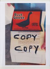 Blue Goose Produce Label Trademark Registration Official Document