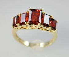 #5024 - Size 6 - 10K Gold & Garnet Ring