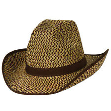 2-Tone Western Hat w/Brown Trim & Band (Pack of 60)