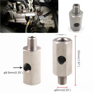 Oil Pressure Sensor 1/8'' BSPT Tee to NPT Adapter Turbo Supply Feed Line Gauge