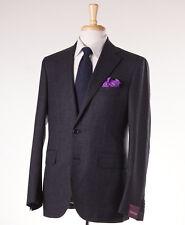 NWT $2795 SARTORIA PARTENOPEA Charcoal Woven Check Wool Sport Coat 40 R (Eu 50)