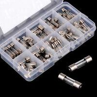 20mm 100 Stück Sortiment Gerätesicherungen Glassicherungen Box Satz 0,2A-15A SD