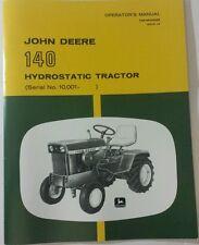 NEW JOHN DEERE 140 OPERATOR'S MANUAL