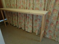 H75 W160 D25cm BESPOKE CONSOLE HALL BED TELEPHONE TABLE UNTREATED