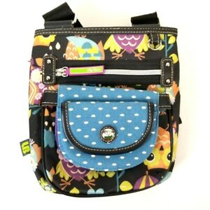 Lily Bloom Owl Print Crossbody Bag & Coordinating Snap-On Wallet Compartments