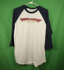 John Mayer 2013 Born and Raised World Tour Raglan Baseball T Shirt Medium