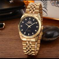 Stainless Steel Quartz watches Wrist Watch Wholesale CHENXI Gold Watch men