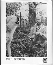 ~ Paul Winter 1970s Original A&M Promo Photo Jazz Saxophone Jazz World Music