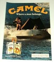 1983 Print Ad Camel Cigarettes Vintage 80's Advertisement arctic camping 1d