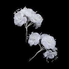 fleur satin organza perle décoration  mariage baptême contenant à dragées  6pcs