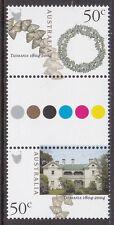 2004 Tasmania 1804-2004 - MUH 50c Gutter Pair