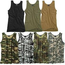 US ARMY TANK TOP S-3XL v. Farben uni o. tarn, Shirt Achselshirt Muskelshirt camo