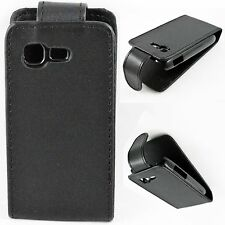 Black Leather Shell Skin Pouch Cover Case For Samsung Galaxy Pocket Neo S5310