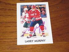 LARRY MURPHY AUTOGRAPHED 1987-88 O-PEE-CHEE MINI CARD