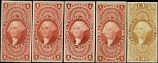 #R71P4 / /#R77P4 (5) DIFFERENT VF // XF PLATE PROOFS ON CARD CV $321.00 BQ1001