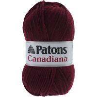 Patons Canadiana Yarn - Solids-Burgundy, 244510-10430