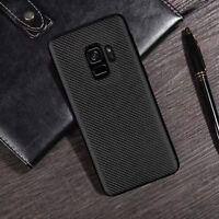 For Samsung Galaxy S9 S9+ Slim Synthetic fiber Carbon Fiber Silicone Cover Case
