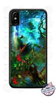 Colorful Peacock Scenery Artwork Design Phone Case Cover for iPhone Samsung LG
