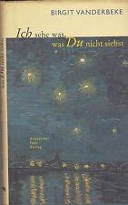 BIRGIT VANDERBEKE - ICH SEHE WAS, WAS DU NICHT SIEHST - ROMAN EN ALLEMAND 1999