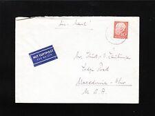 Germany 80p Heuss Northeim Late Usage 1961 H Laubinger Prokurist Air Cover 4t