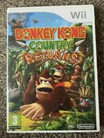 DONKEY KONG COUNTRY RETURNS Nintendo Wii Game 2010 PAL