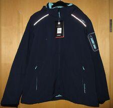 CMP Campagnolo Softshell Jacke Kapuze blau dunkelblau türkis Gr. 46 XXL