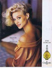 Publicité Advertising 016 1985 Guerlain parfum la Chamade femme