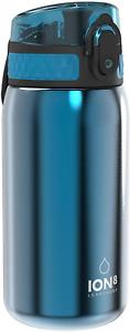 Ion8 Leak Proof Kids' Water Bottle, Stainless Steel, 400Ml (13Oz)