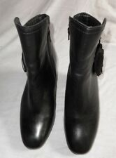 HUSH PUPPIES BLACK LEATHER CALF LENGTH BOOT SIZE 7/41 IN GREAT CONDITION