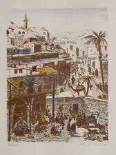 Ernst Huber Jaffa Tel Aviv Israel Palästina Orient Basar Beduinen Araber Kamel