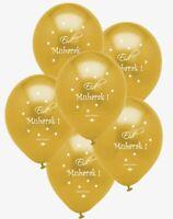 Eid Mubarak Balloons - Gold - Party Celebration Decorations - Happy Eid Faith