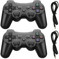 2x Black Wireless Bluetooth Video Game Controller Pad For PS3 Playstation 3 -USA