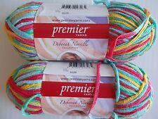 Premier Hipster bamboo rayon yarn, Tutti Frutti, lot of 2 (161 yds each)