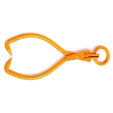 Skidding Tongs With Ring Orange 16 Inch Steel Log Lifting Dragging Log Tongs