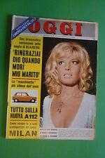 OGGI 41/1969 MONICA VITTI BRIGITTE BARDOT MARIA CALLAS PASOLINI ALFRED HITCHCOCK