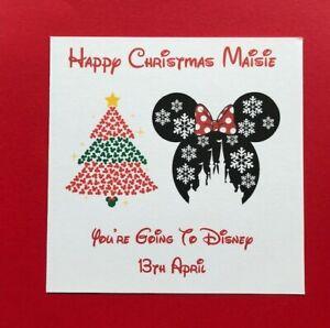 Personalised Disney Reveal Christmas Card- Disney World Florida/Disneyland Paris