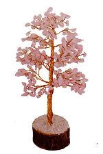Rose Quartz Stone Spiritual Reiki Feng Shui Tree Table Décor Healing Crystal