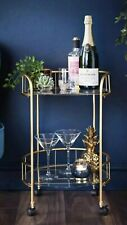 Deco Glamour Gold  Drinks Trolley. New Unopened.