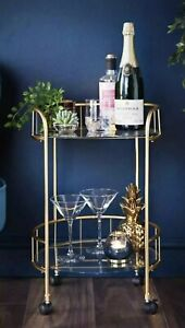 Deco Glamour Gold  Drinks Trolley. New Unopened. Quick Delivery 🚚