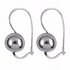 Genuine Authentic 925 Sterling Silver 10 mm Classic Euro Ball Earrings Beautiful