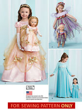 SEWING PATTERN MAKE FROZEN  ELSA  COSTUME! GIRL & AMERICAN GIRL DOLL!  PRINCESS