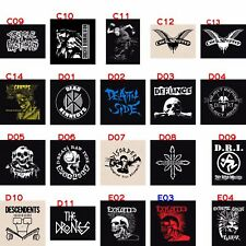 PUNK PATCHES A to Z Sew-on Rock Hardcore metal crust anarcho grind straight edge